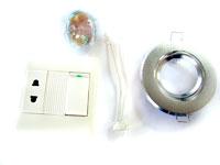 Светильник врезной (поворотный), лампочка (35W)