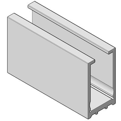 П1587-2500 профиль стекло-стена  для душевой кабины