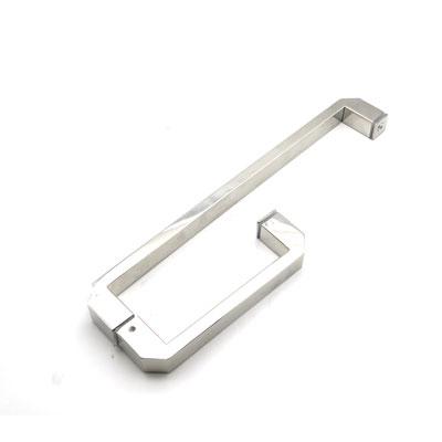 РС121-100 ручка-скоба двухсторонняя для стеклянной двери 25х13х225х425