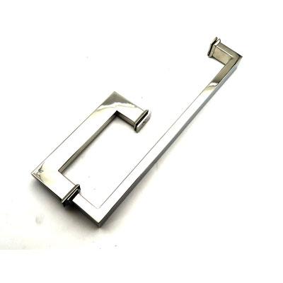 РС109 ручка-скоба двухсторонняя для стеклянной двери 15х30х170х385