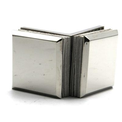 КН034-304 Коннектор 90 гр AISI 304 стекло-стекло