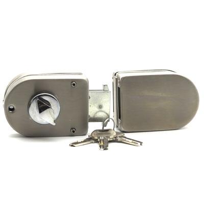 ZSD122-016A Замок с ответной частью на стекло ключ-вертушка