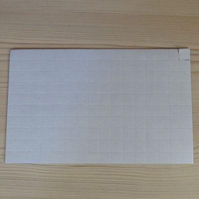 Скотч двухсторонний  толщина 1,5 мм 18*18 (3200 квадратиков)