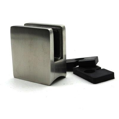 КН747 Стеклодержатель квадратный литой для стекла 10-12 мм, на трубу Ø38,1 мм