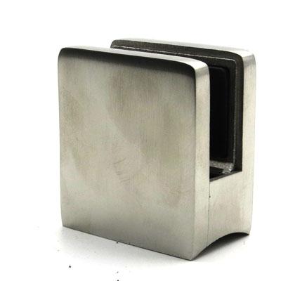 КН749 Стеклодержатель квадратный литой для стекла 10-12 мм, на трубу Ø50,8 мм