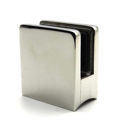 КН750 Стеклодержатель квадратный литой для стекла 10-12 мм, на трубу Ø50,8 мм