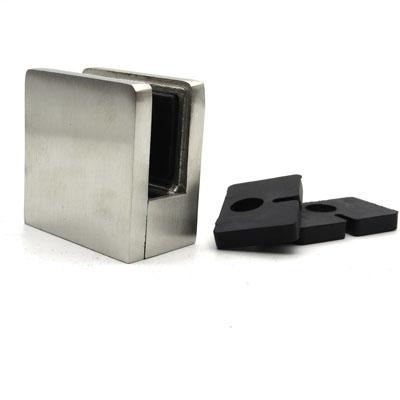 КН751 Стеклодержатель квадратный литой для стекла 10-12 мм, под плоскость