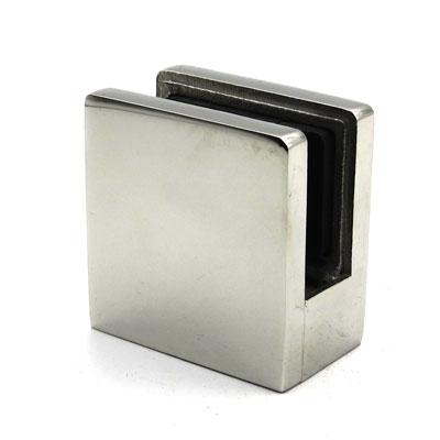 КН752 Стеклодержатель квадратный литой для стекла 10-12 мм, под плоскость