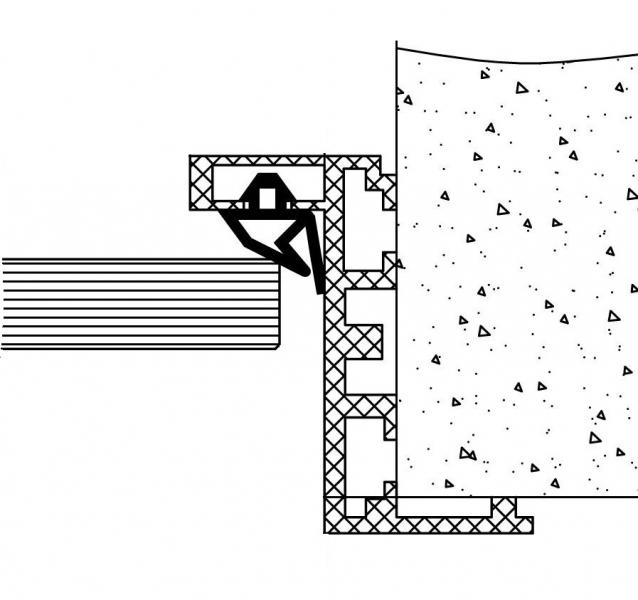 TI-802Н Комплект AL (Z-обр.) дверной коробки с уплотнителем и уголками, L= 6000m