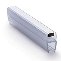 114-008BW-8  Профиль магнитный стекло  8mm 180 гр длина 2200мм
