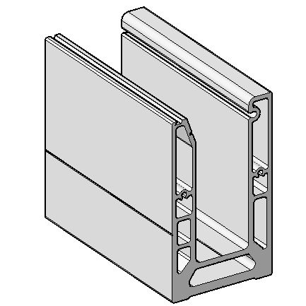 0883-12 Профиль s-102  (база)  для стеклянных ограждений 6000мм