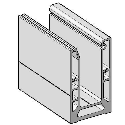 SND102-3000 Профиль база для стеклянных ограждений.
